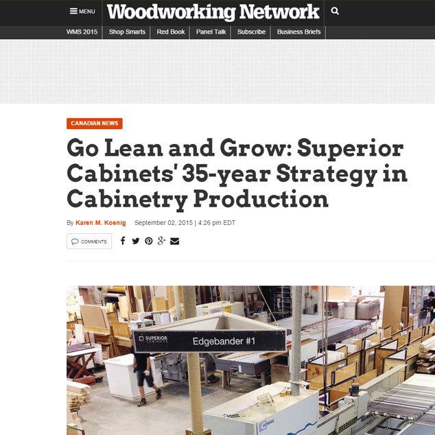 <h1>EDITORIAL FEATURE: GO LEAN AND GROW: SUPERIOR CABINETS