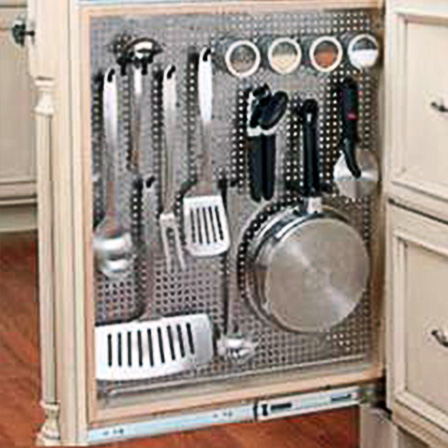 Base Pull Out Stainless Organizer