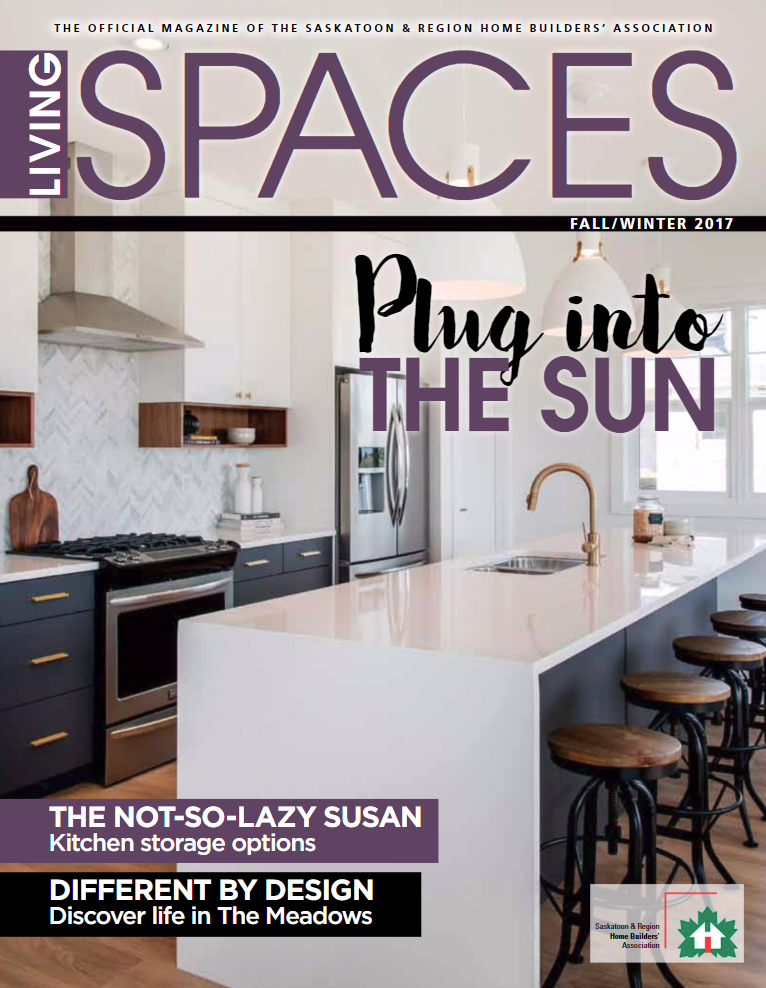 """Superior Cabinets was featured in the article """"The Not So Lazy Susan – Ingenious Storage Solutions for Your Kitchen"""" in the Fall/Winter edition of Living Spaces Magazine, the official magazine of the Saskatoon & Region Home Builders' Association. Here you will information on some of various types of Lazy Susan alternatives for your kitchen, as well as some storage advice to keep your corner cabinets organized."""