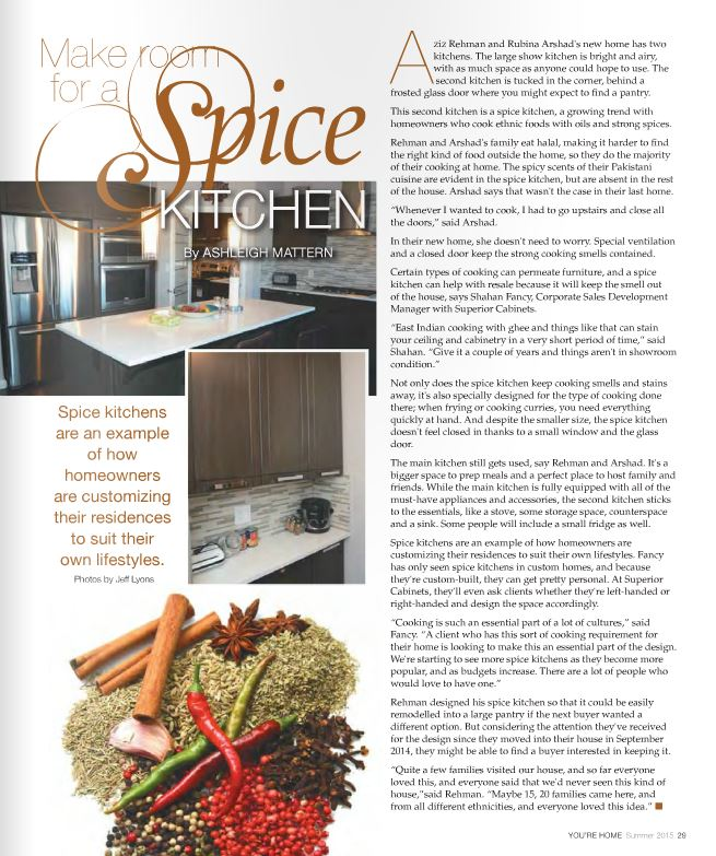 <h1>EDITORIAL FEATURE: MAKE ROOM FOR A SPICE KITCHEN by Ashleigh Mattern</h1>
