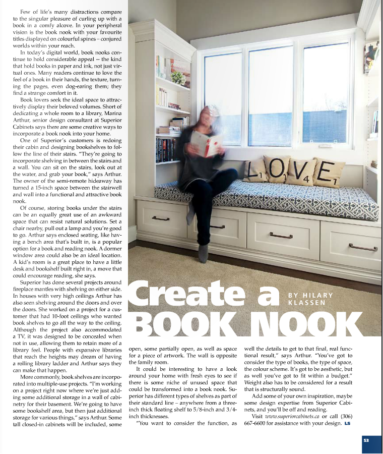 <h1>EDITORIAL FEATURE: Create a Book Nook - Living Spaces Magazine</h1>