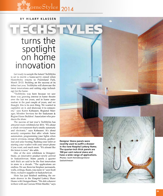 <h1>SUPERIOR CABINETS EDITORIAL FEATURE:  TECHSTYLES TURNS THE SPOTLIGHT ON HOME INNOVATION by Hilary Klassen</h1>