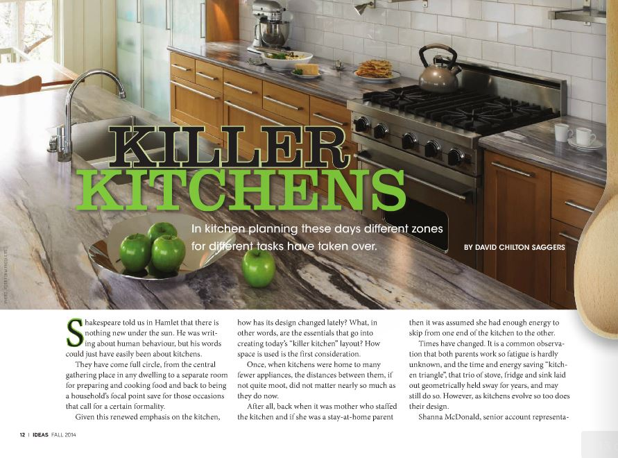 <h1>EDITORIAL FEATURE: Killer Kitchens by DAVID CHILTON SAGGERS</h1>