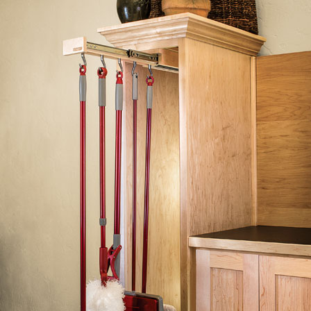 Glideware Broom Pantry Storage