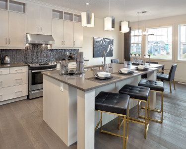 Contemporary white kitchen by Superior Cabinets