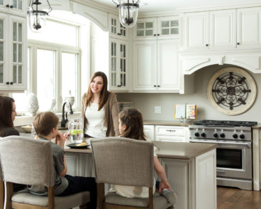 Light Stonewood Kitchen cabinets by Superior Cabinets