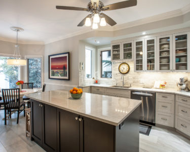 Light and Dark Bay Kitchen cabinets by Superior Cabinets