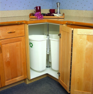Triple Corner Recycling Cabinet Insert by Richelieu