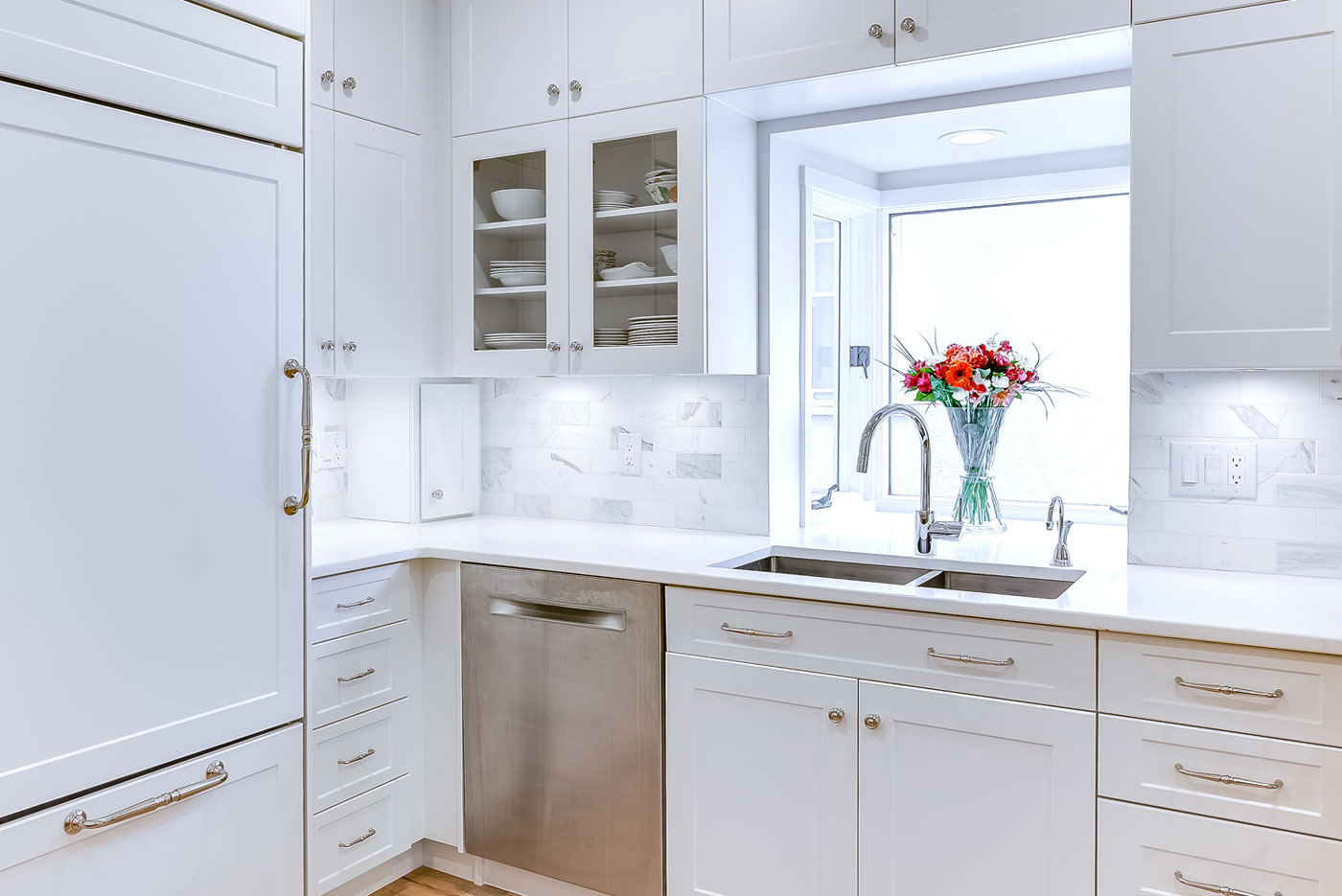 Light Pearl Kitchen cabinets by Superior Cabinets