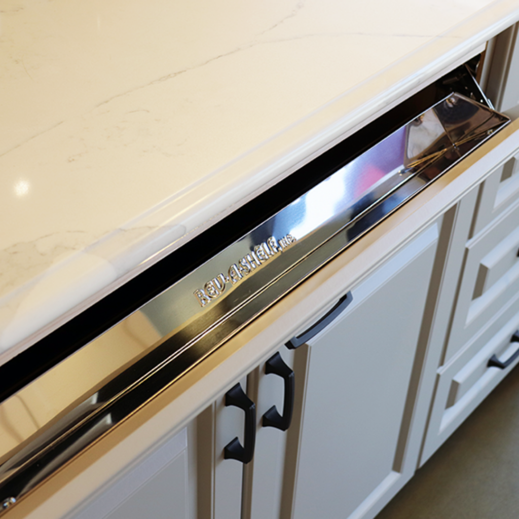 Slimline SOS Tip-Out Tray in Stainless Steel for Base Sink Cabinet by Superior Cabinets